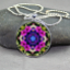 Petunia Forget-Me-Not Necklace Geometric Kaleidoscope Mandala Serendipity
