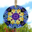 Daffodil Glass Sun catcher Sacred Geometry Mandala Kaleidoscope Sentimental Spring