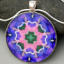 Bleeding Heart Mandala Pendant Necklace Boho Chic Chakra New Age Sacred Geometry Kaleidoscope Unique Gift For Her Bewitched