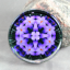 Crocus Glass Paperweight Sacred Geometry Mandala Kaleidoscope Prelude of Spring