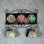 Towel Rack and Shelf with Sacred Geometry Mandala Ceramic Tiles Birds